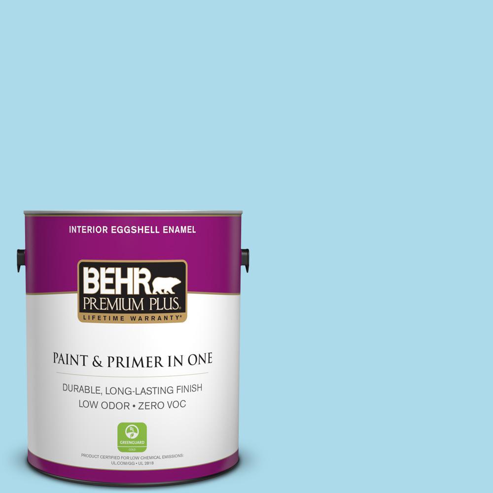BEHR Premium Plus 1-gal. #530A-3 Frosty Glade Zero VOC Eggshell Enamel Interior Paint