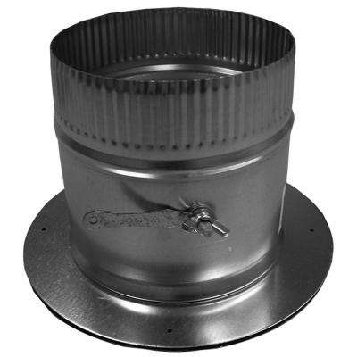 10 in. Dia Galvanized Take Off Start Collar and Gasket with Damper