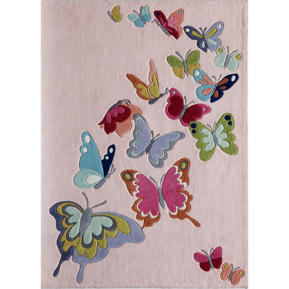 Momeni Lil Mo Whimsy Butterfly Pink 4 Ft X 6 Ft Indoor