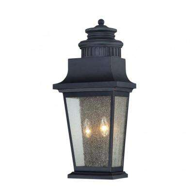 Tony 2-Light Slate Outdoor Wall Mount Lantern