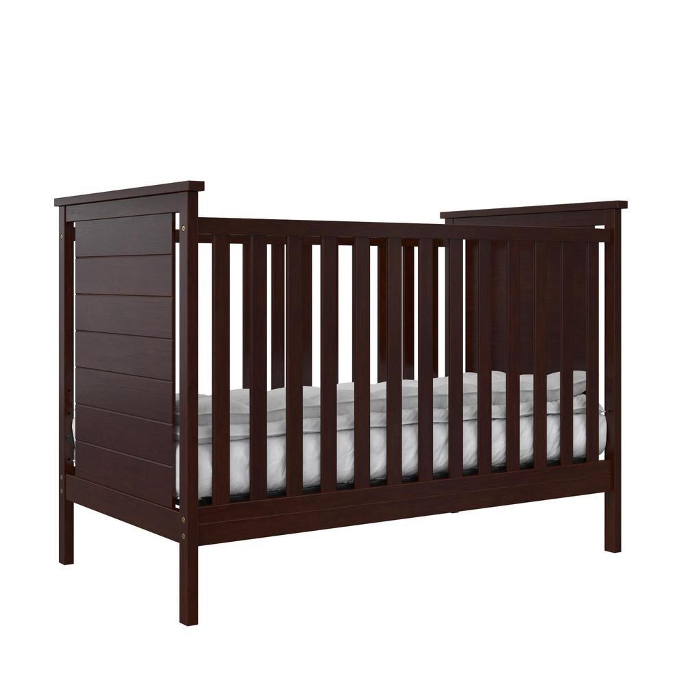 BABY RELAX Eloise 3-in-1 Espresso Convertible Crib-DE74861 ...