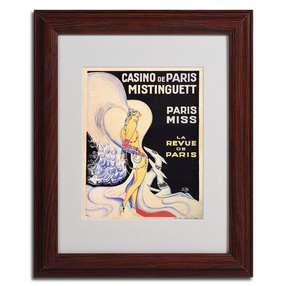 """11 in. x 14 in. """"Casub de Paris Mistinguett"""" Dark Wooden"""