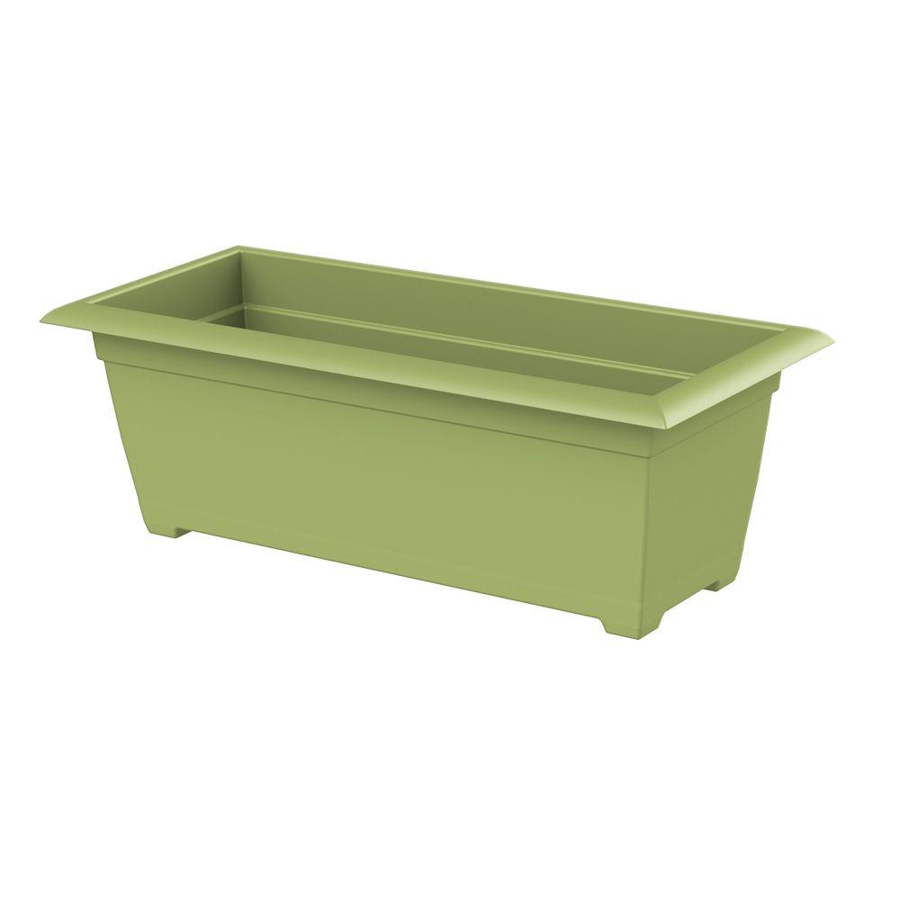 Dayton 27 in. x 9 in. Green Plastic Window Box