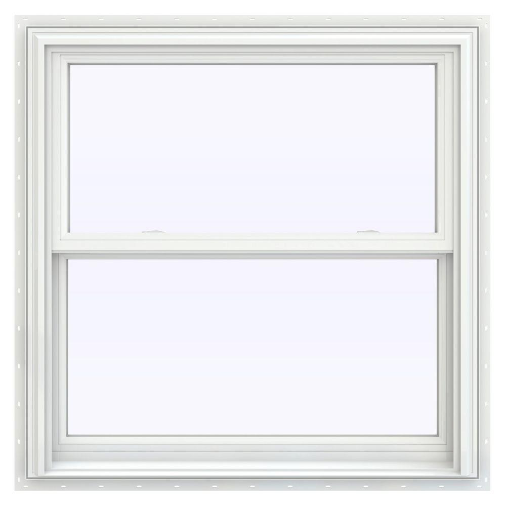 Jeld wen 35 5 in x 35 5 in v 2500 series double hung for Best double hung windows reviews