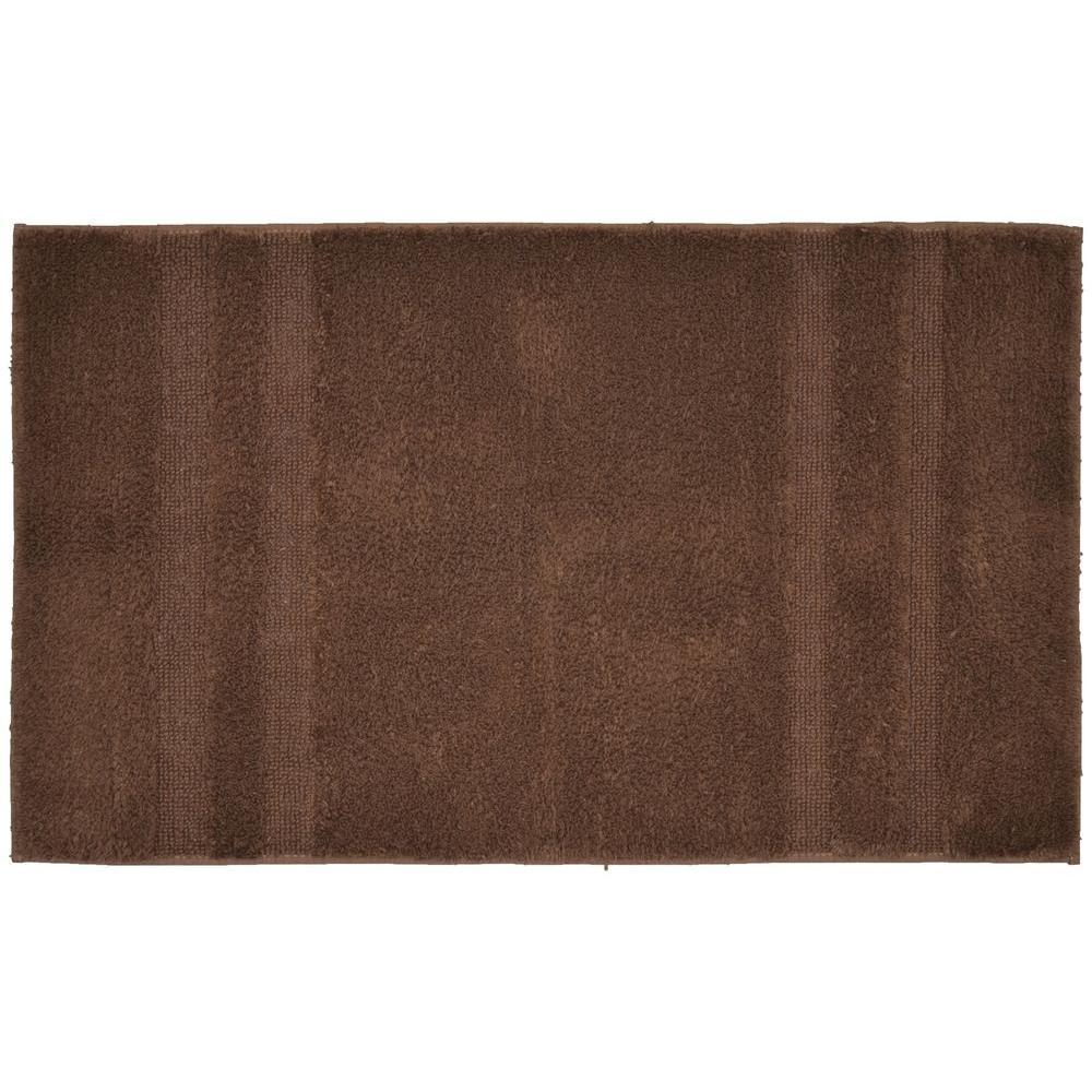 Garland Rug Majesty Cotton Chocolate 24 inch x 40 inch Washable Bathroom Accent Rug by Garland Rug