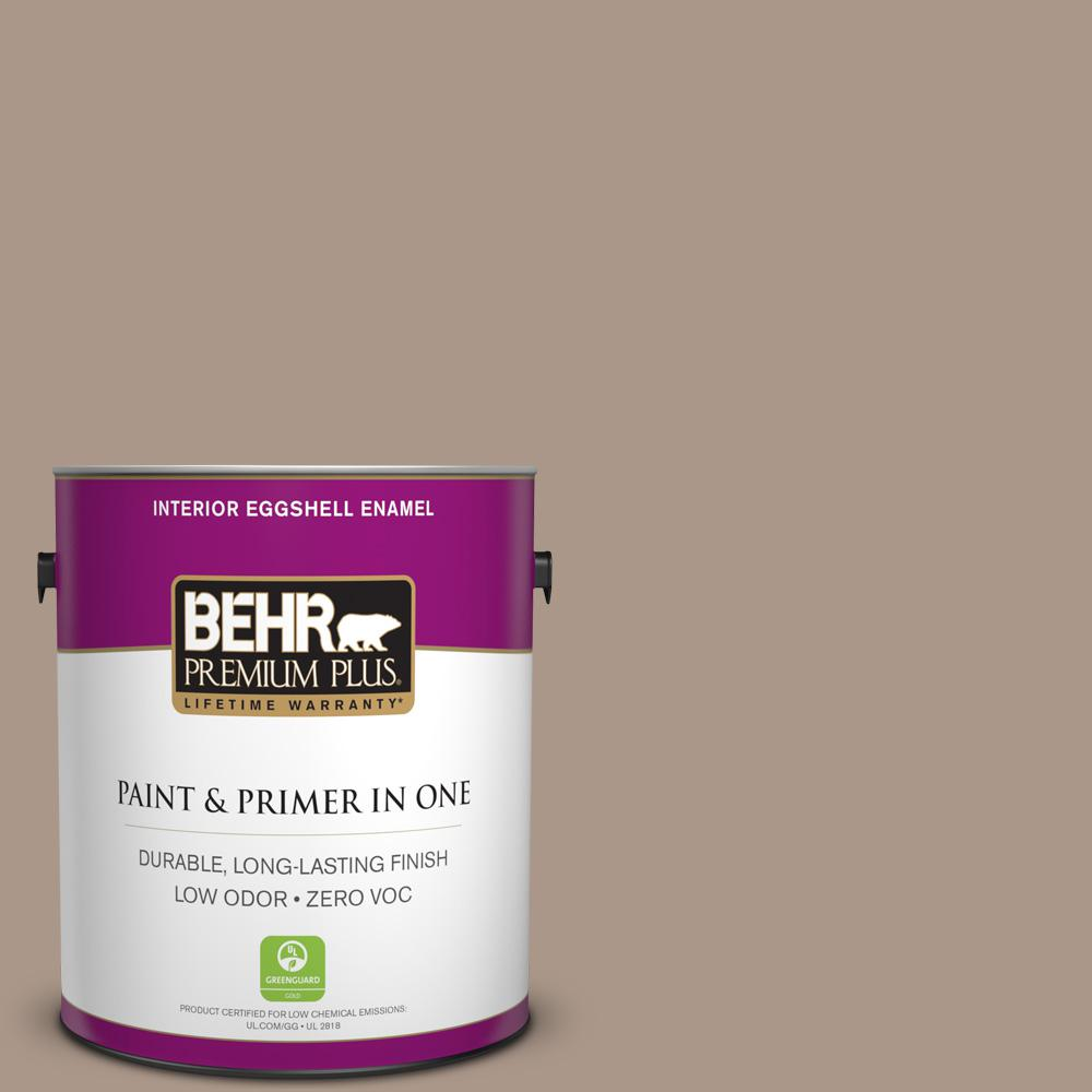 BEHR Premium Plus 1 gal. #N230-4 Chic Taupe Eggshell Enamel Zero VOC Interior Paint and Primer in One