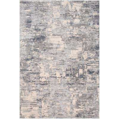 Magda Medium Grey 6 ft. 7 in. x 9 ft. 6 in. Abstract Area Rug