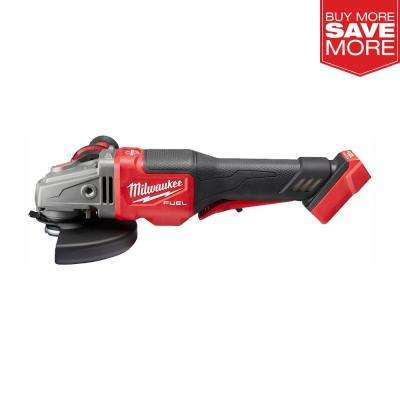 M18 FUEL 18-Volt Lithium-Ion Brushless Cordless 4-1/2 in. / 6 in. Braking Grinder with Paddle Switch (Tool-Only)