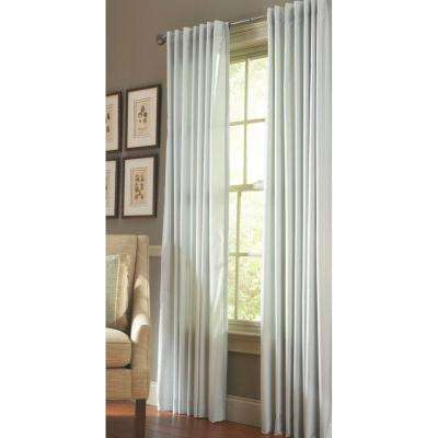 Faux Silk Back Tab Curtain