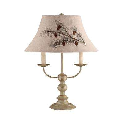 26 in. Taupe Table Lamp