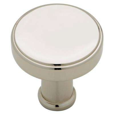 Medallion 1 in. (26mm) Polished Nickel Round Cabinet Knob (24-Pack)