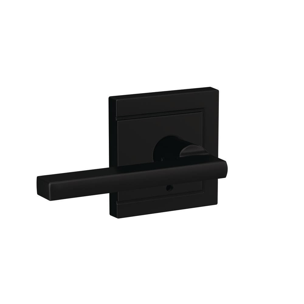 Schlage Custom Latitude Matte Black Upland Trim Combined