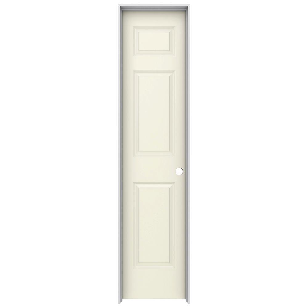 Jeld wen 18 in x 80 in colonist vanilla painted left for 18 inch 6 panel door