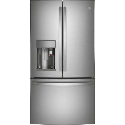Profile 27.7 cu. ft. Smart French Door Refrigerator with Kuerig K-Cup in Fingerprint Resistant Stainless Steel
