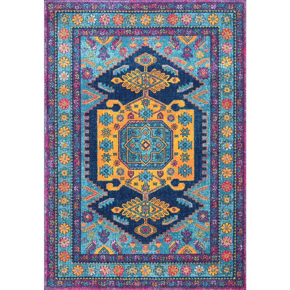 nuloom persian floral delena multi 5 ft x 7 ft 5 in area rug rzbd46a 5075 the home depot. Black Bedroom Furniture Sets. Home Design Ideas