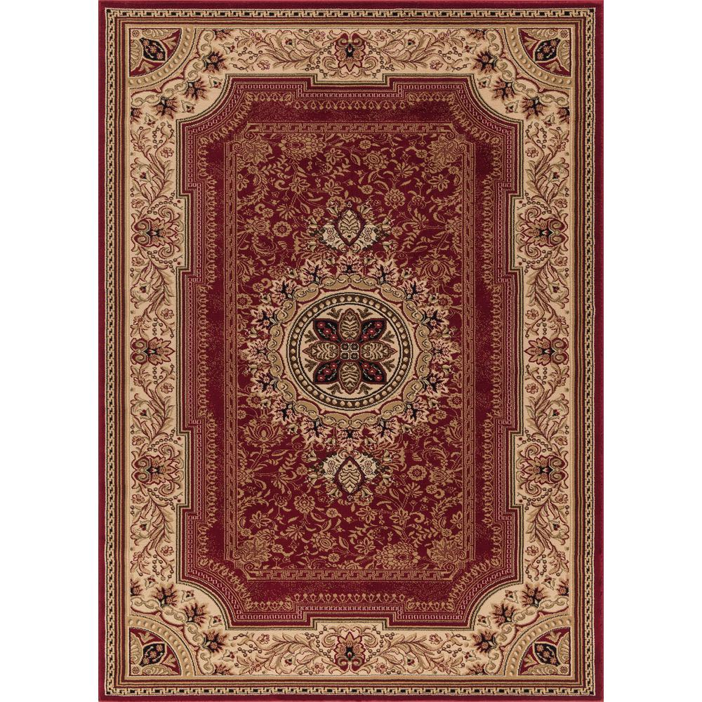 Concord Global Trading Ankara Chateau Red 5 Ft X 7 Ft