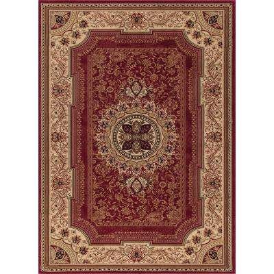 Ankara Chateau Red Rectangle Indoor 9 ft. 3 in. x 12 ft. 6 in. Area Rug
