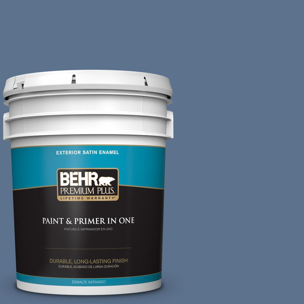 5 gal. #PPU14-01 Arrowhead Lake Satin Enamel Exterior Paint