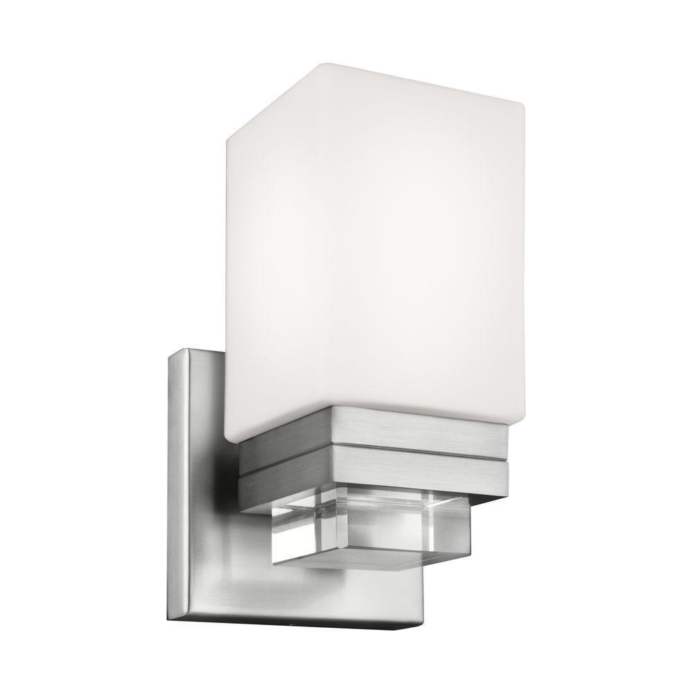 Maddison 1-Light Satin Nickel Wall Sconce