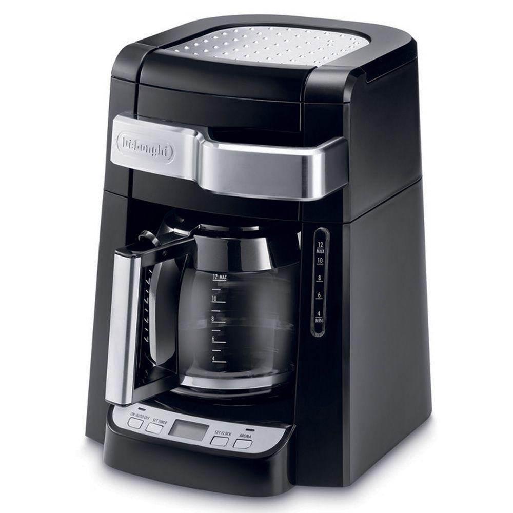 Delonghi 12 Cup Coffee Maker Dcf2212t The Home Depot