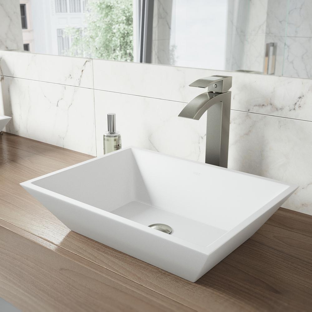 Vigo Vinca Matte Stone Vessel Bathroom