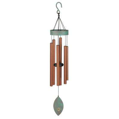 Precision-Tuned Patina Breeze 32 in. Bronze Wind Chime