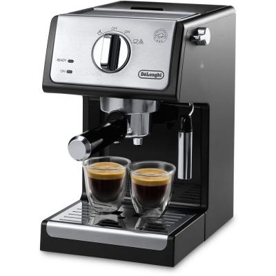 15-Bar Black Stainless Steel Espresso Machine and Cappuccino Maker with Manual Frother