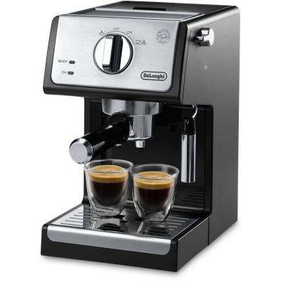 15-Bar Pump Espresso and Cappuccino Machine in Black/Stainless Steel