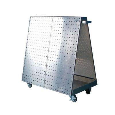 21-1/4 in. Mobile Tool Cart, Stainless Steel