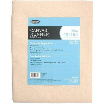 3 ft. 9 in. x 14 ft. 9 in., 8 oz. Canvas Drop Cloth Runner