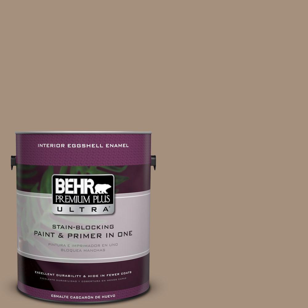 BEHR Premium Plus Ultra 1-gal. #ECC-58-1 Farmyard Eggshell Enamel Interior Paint