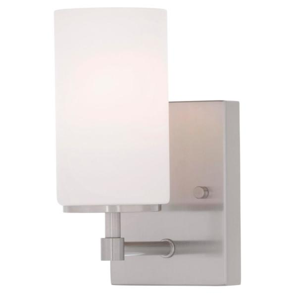 Alturas 4.375 in. W 1-Light Brushed Nickel Wall Sconce