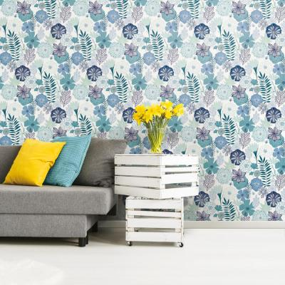 28.18 sq. ft. Perennial Blooms Peel and Stick Wallpaper