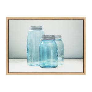 "Sylvie ""Blue Jars 1"" by F2Images Framed Canvas Wall Art"