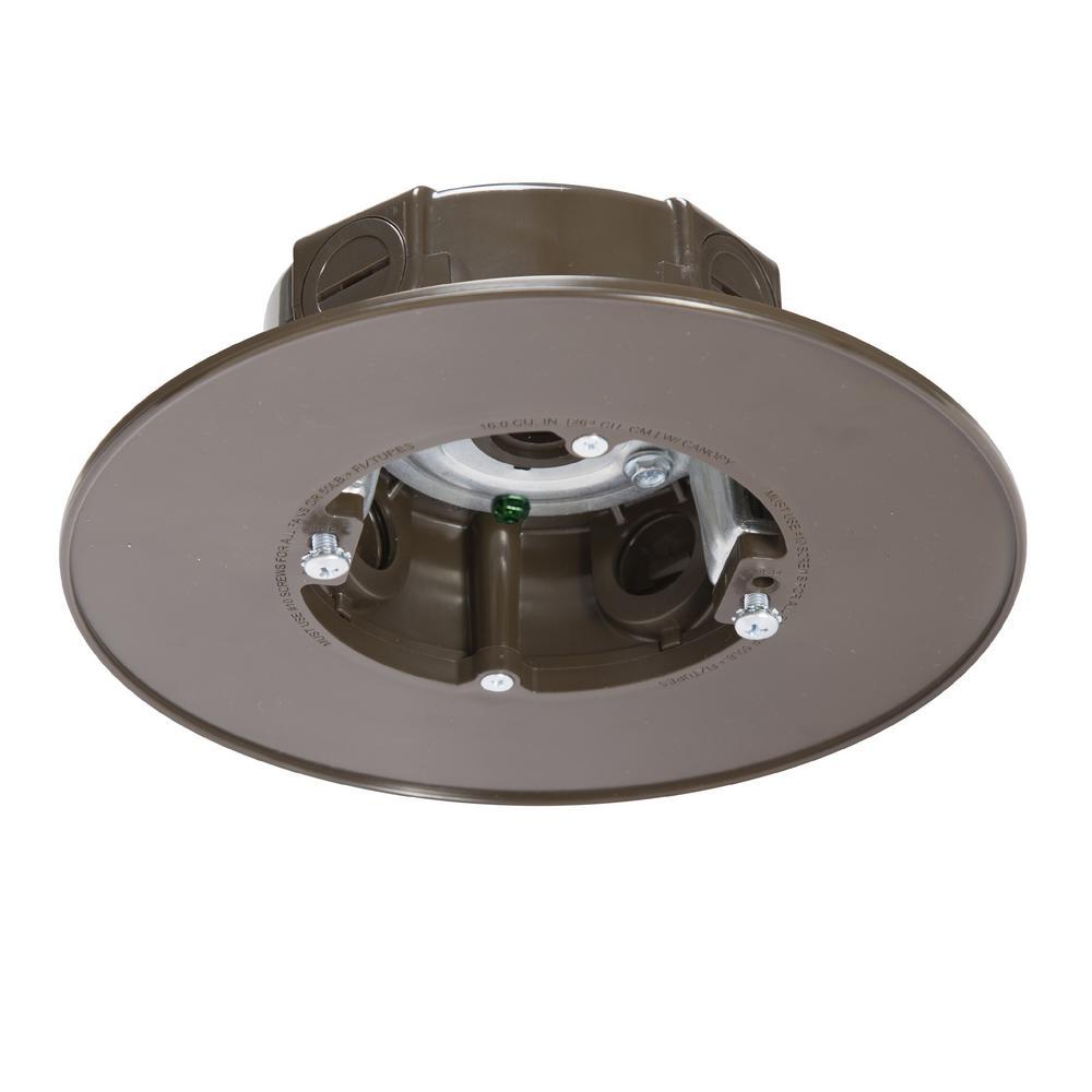 Bronze Weatherproof Ceiling Fan and Luminaire Box