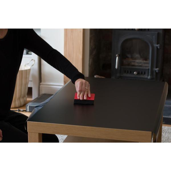 d-c-fix - 26 in. x 78 in. Matt Black Self-adhesive Vinyl Film - Ideal to Renovate/Decorate Furniture, Door, Cabinet Projects