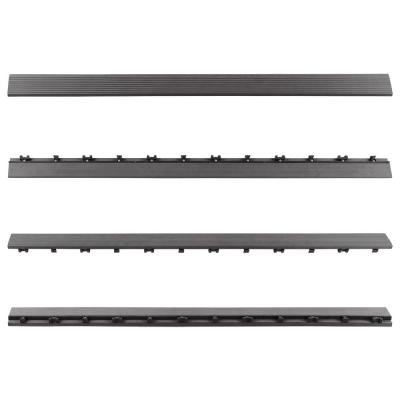 1/6 ft. x 3 ft. Quick Deck Composite Deck Tile Straight Fascia in Westminster Gray (2-Pieces per Box)