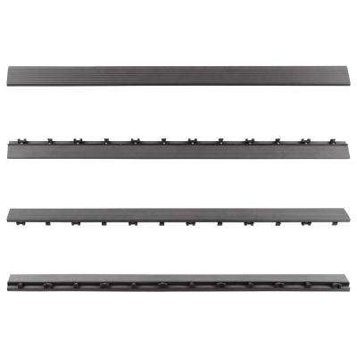 1/6 ft. x 3 ft. Quick Deck Composite Deck Tile Straight Trim in Westminster Gray (2-Pieces per Box)