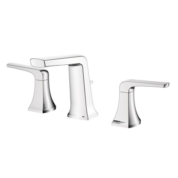 Linea 8 in. Widespread 2-Handle Bathroom Faucet in Polished Chrome Finish
