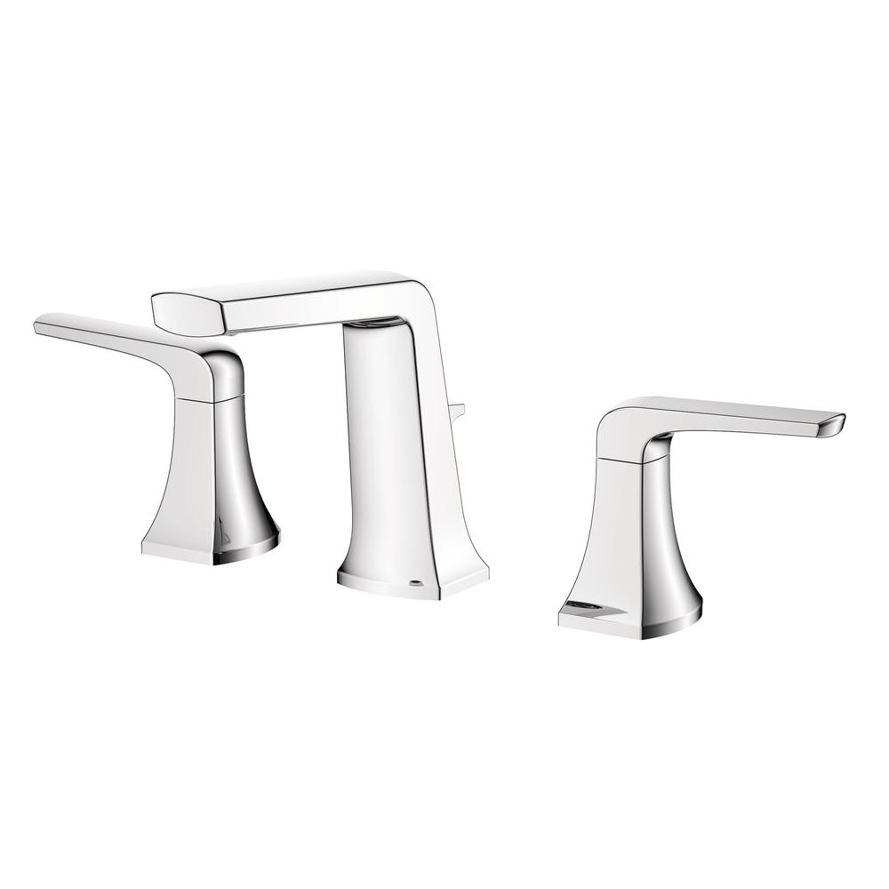Two Handle Bathroom Sink Faucet with Chrome Finishing