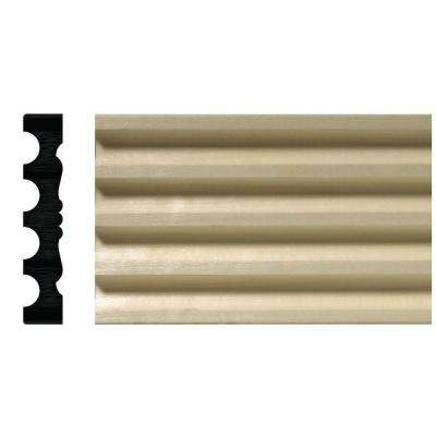 807-7 3/4 in. x 4 in. x 84 in. White Hardwood Reversible Fluted Victorian Casing Moulding