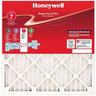 18 in. x 30 in. x 1 in. Allergen Plus Pleated FPR 7 Air Filter (2-Pack)