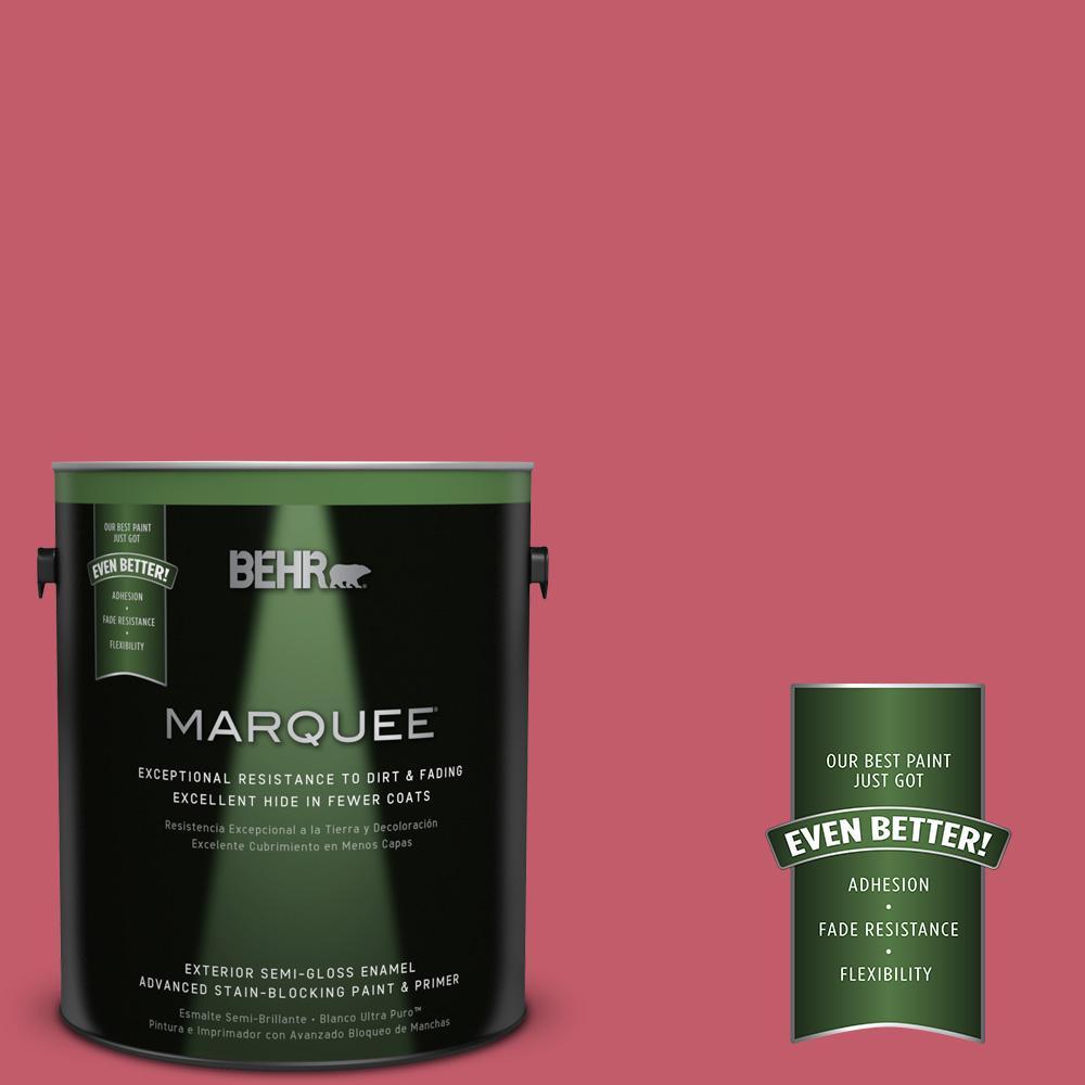 BEHR MARQUEE 1-gal. #MQ4-1 Candy Drop Semi-Gloss Enamel Exterior Paint