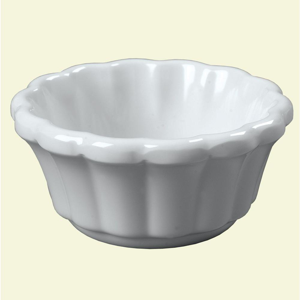 3.2 oz. Melamine Scalloped Ramekin in White (Case of 48)