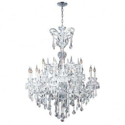 Maria Theresa 18-Light Chrome and Clear Crystal Chandelier