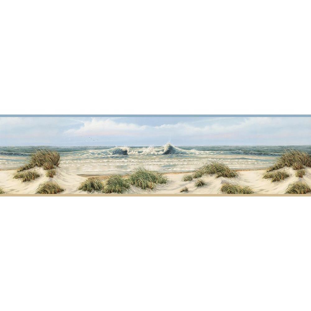Falmouth Beige Dunes Wallpaper Border Sample