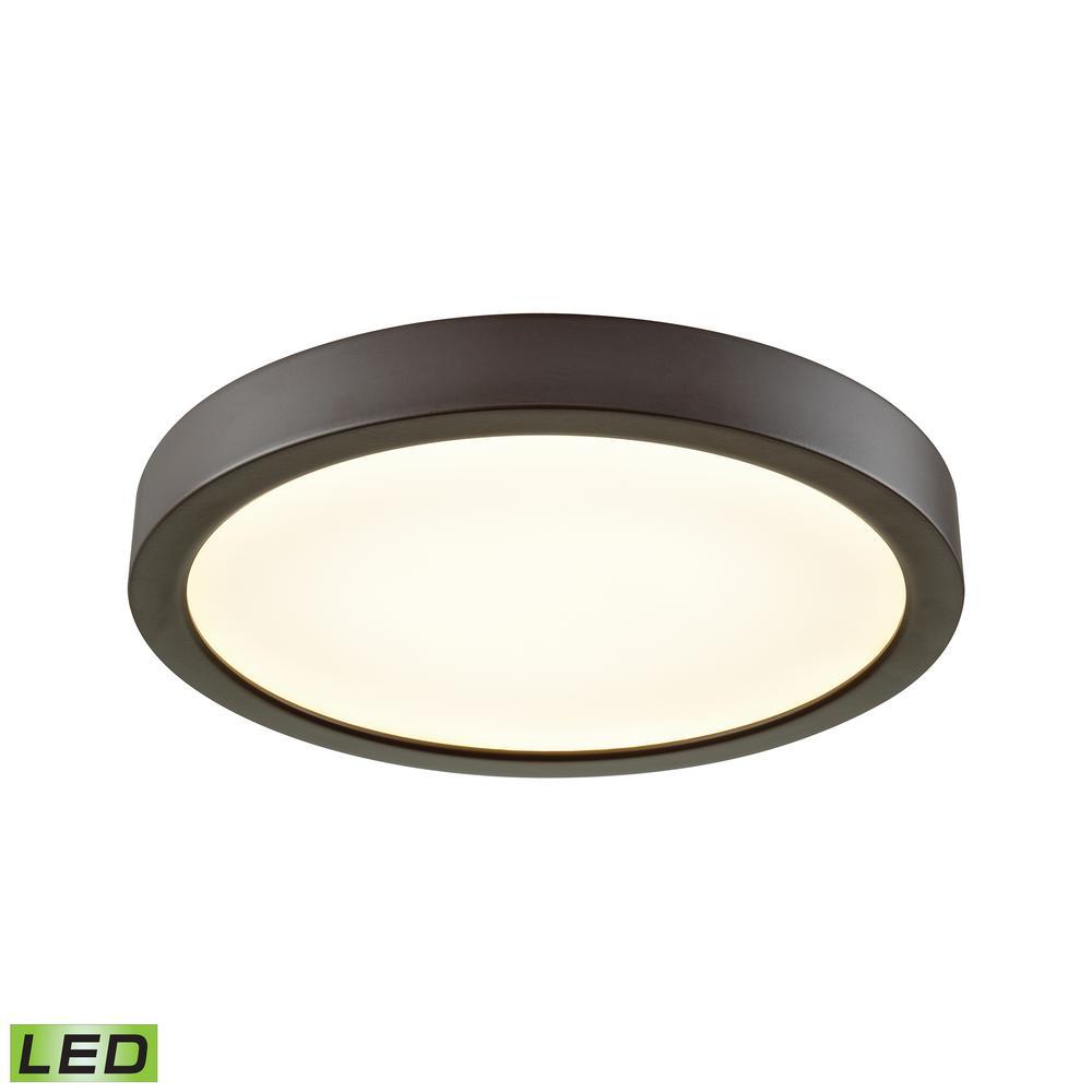 Titan 75-Watt Oil Rubbed Bronze Integrated LED Flushmount