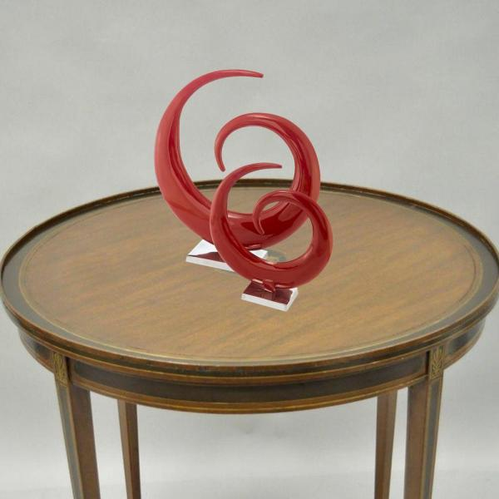 Rosemary Irregular Metal Large, Spiral Sculpture