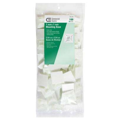 1 in. Mounting Base, Natural (100-Pack)