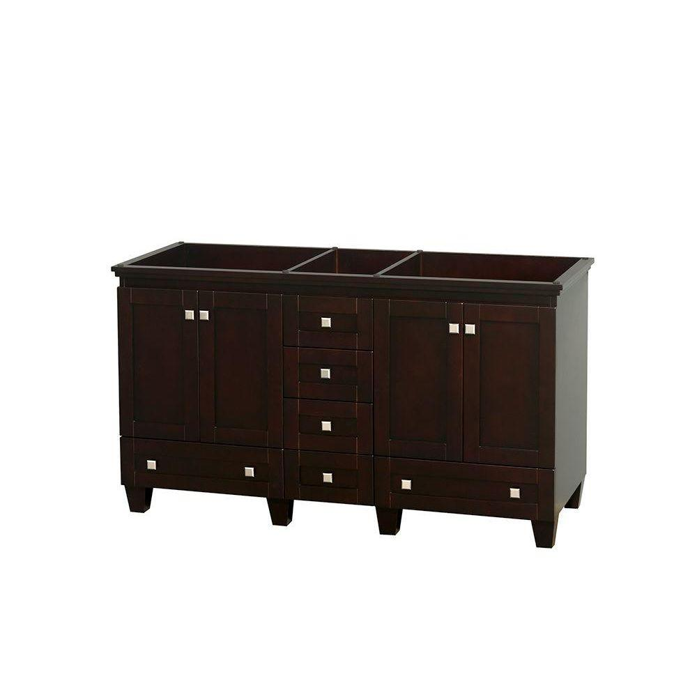 Foremost Naples 60 In W Bath Vanity Cabinet Only In Warm Cinnamon For Double Bowl Naca6021d